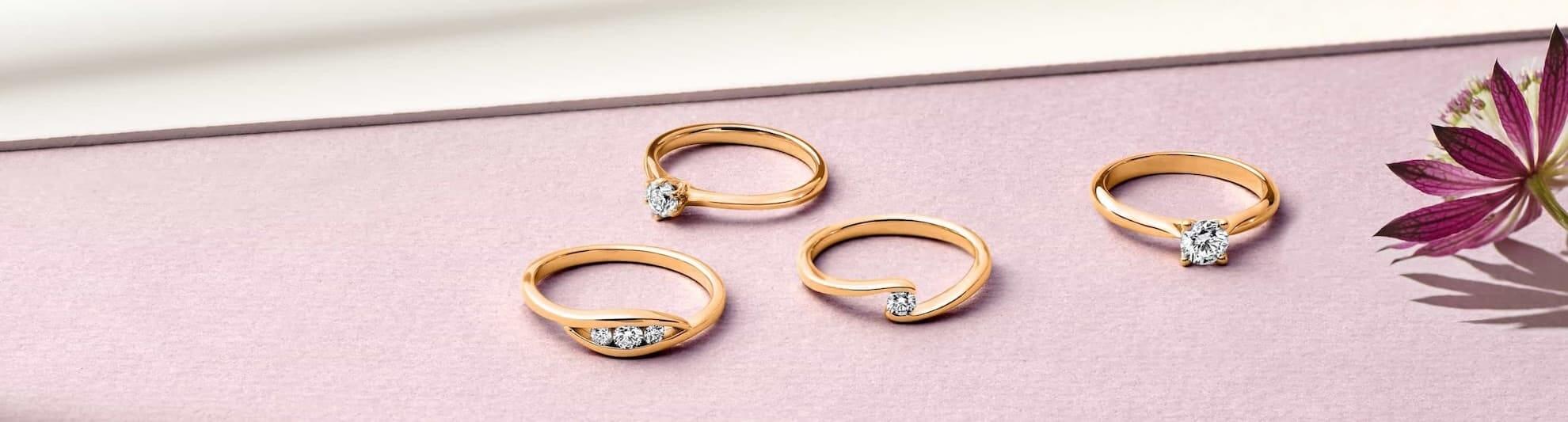 Diamantringe rosegold  Diamantringe aus Roségold | VERLOBUNGSRING.de
