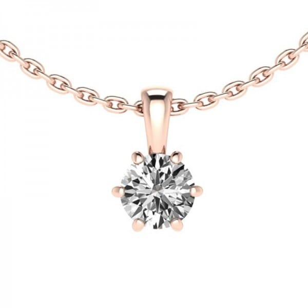 Diamant Anhänger 0,25 ct. 6er-Krappe