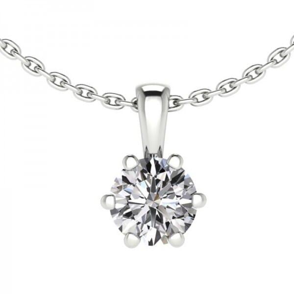 Diamant Anhänger 0,5 ct. 6er-Krappe