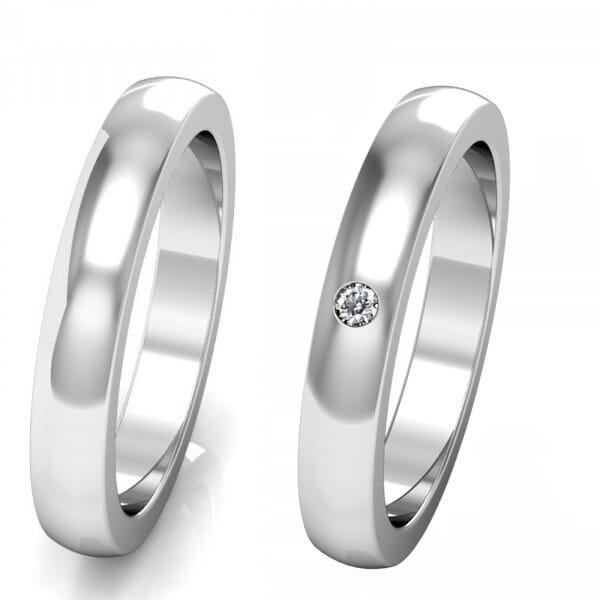 Silberringe mit Diamant