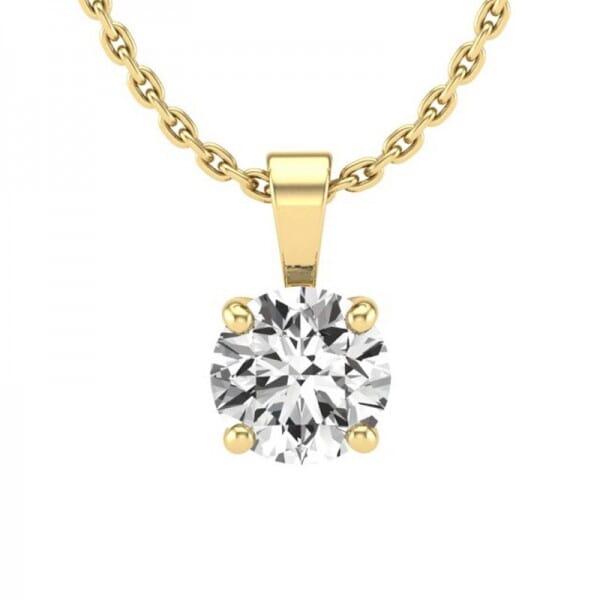 Diamant Anhänger 0,7 ct. 4er-Krappe