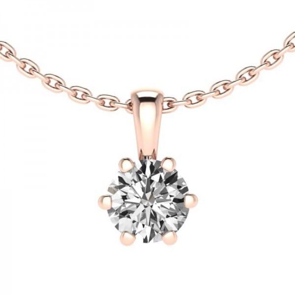 Diamant Anhänger 0,4 ct. 6er-Krappe