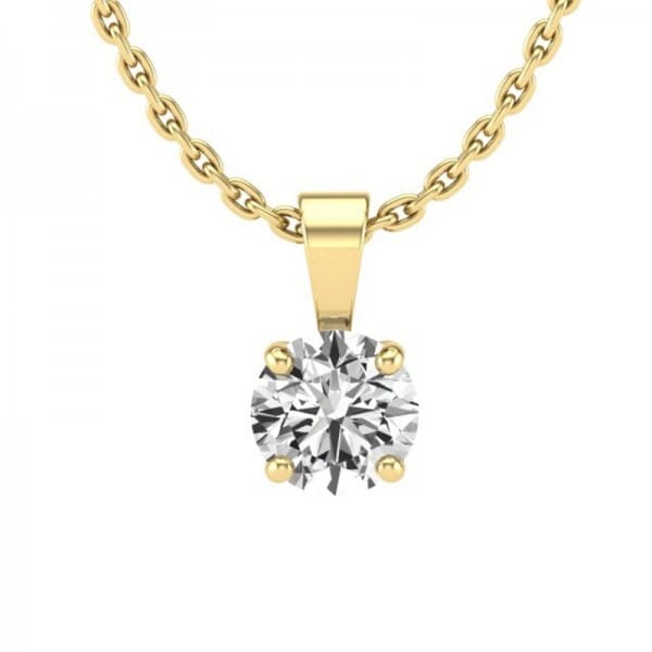 Diamant Anhänger 0,4 ct. 4er-Krappe