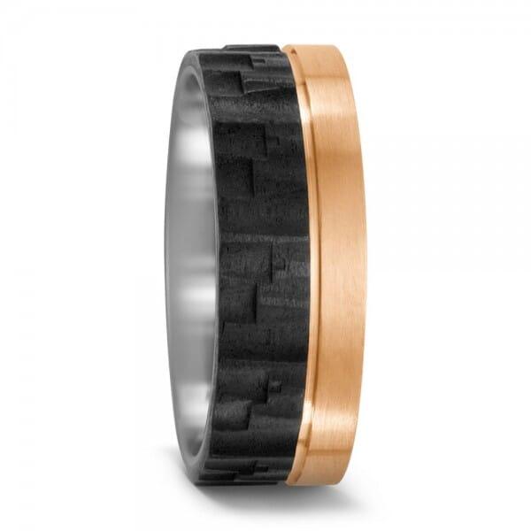 Bronze Carbon III ♂ Herrenring