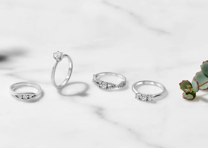 Diamantringe Aus Platin Weissgold Und Silber Breedia