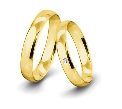 Trauring-Gelbgold-4-5mm-C-mit-diamant-002ct-poliert
