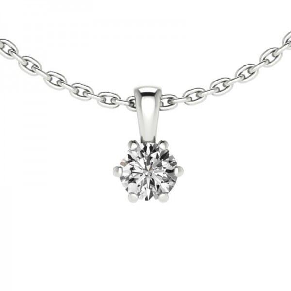 Diamant Anhänger 0,15 ct. 6er-Krappe mit Kette