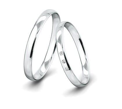 Trauringe-Weissgold-3mm-C-mit-3-Diamanten-001ct-poliert