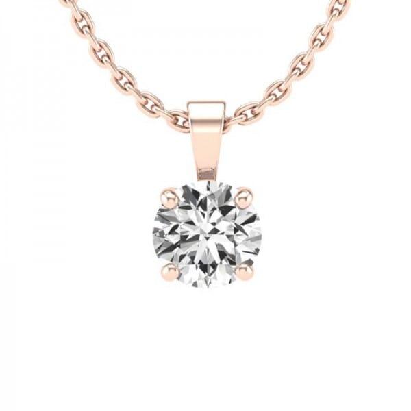 Diamant Anhänger 0,5 ct. 4er-Krappe