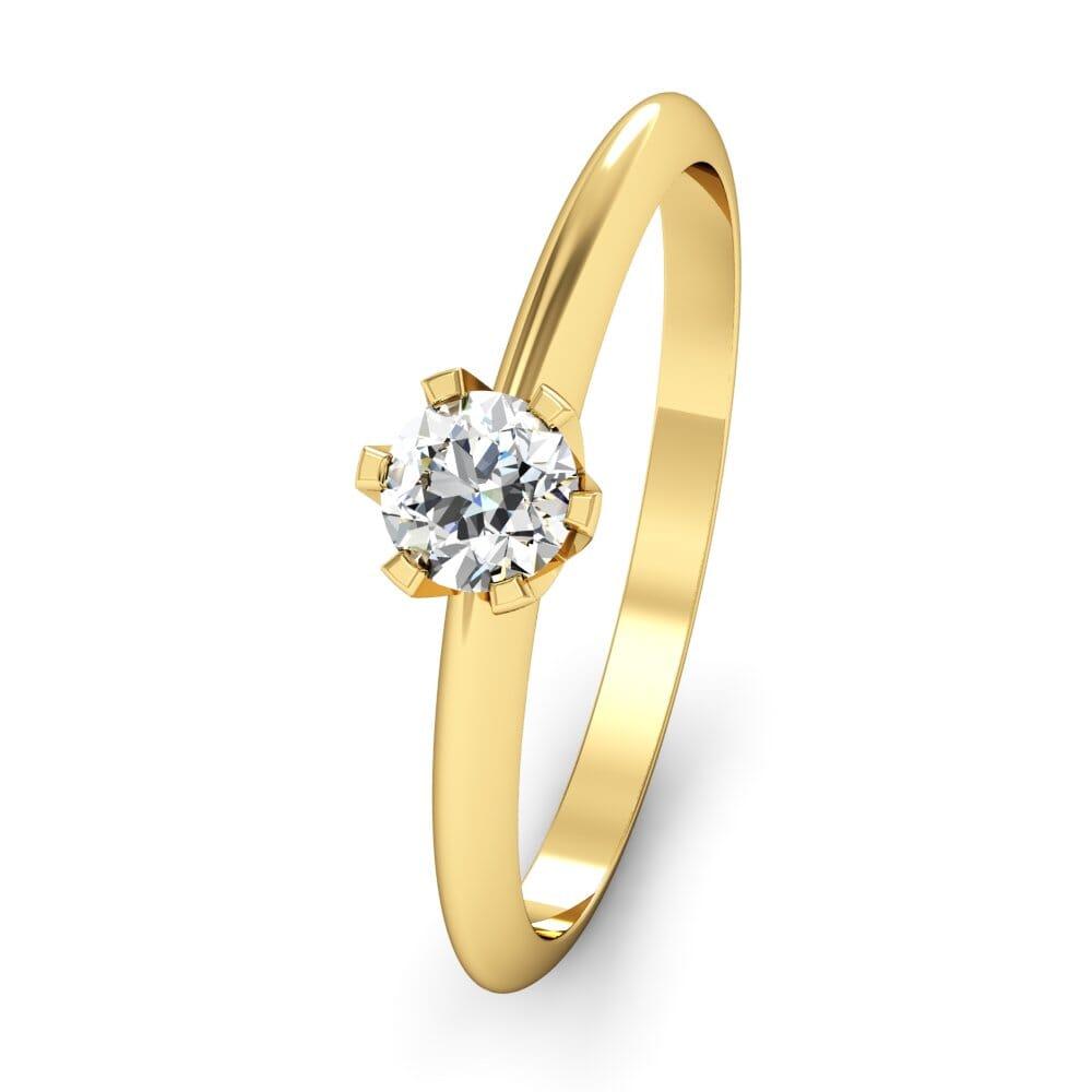 Diamantringe Aus Gelbgold Breedia