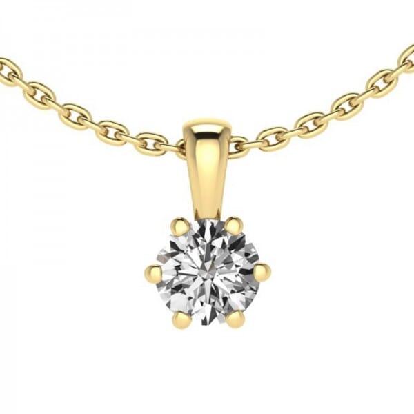 Diamant Anhänger 0,3 ct. 6er-Krappe