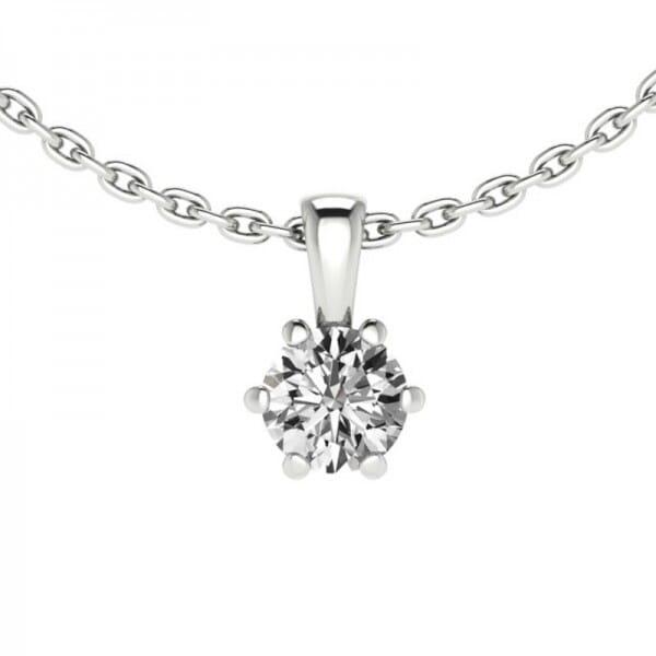 Diamant Anhänger 0,20 ct. 6er-Krappe mit Kette