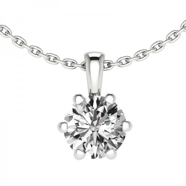 Diamant Anhänger 0,7 ct. 6er-Krappe