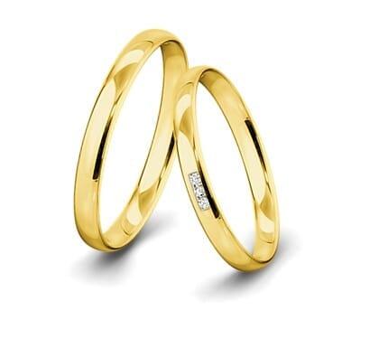 Trauringe-Gelbgold-3mm-C-Kanal-mit-3-Diamanten-001ct-poliert