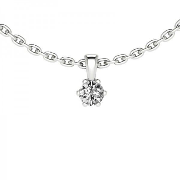 Diamant Anhänger 0,05 ct. 6er-Krappe mit Kette