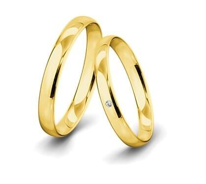 Trauring-Gelbgold-3-5mm-C-mit-diamant-002ct-poliert