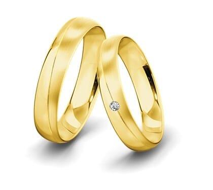Trauringe-Gelbgold-5mm-C-mit-diamant-0025ct-poliert-l-ngsmattiert
