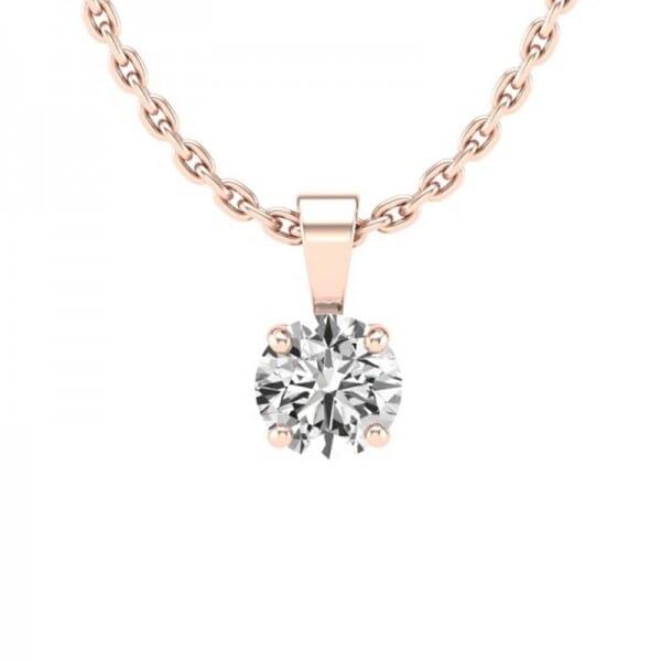 Diamant Anhänger 0,3 ct. 4er-Krappe