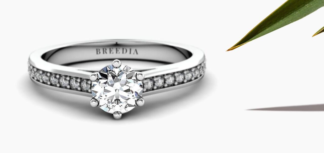 Diamantringe in weißen Edelmetall